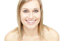 Portrait einer glühenden Frau Stockfotografie