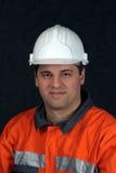 Portrait einer Grubenarbeitskraft Stockbilder