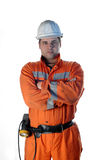 Portrait einer Grubenarbeitskraft Stockfoto