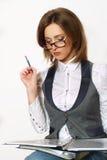 Portrait einer jungen attraktiven Geschäftsfrau. lizenzfreies stockbild