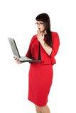 Portrait einer jungen attraktiven Geschäftsfrau. Stockbild