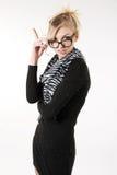 Portrait einer jungen attraktiven Geschäftsfrau. Stockfotografie