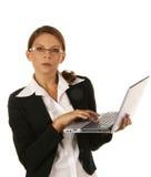 Portrait einer jungen attraktiven Geschäftsfrau. Lizenzfreie Stockfotos