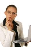 Portrait einer jungen attraktiven Geschäftsfrau. Stockfoto