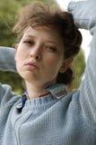 Portrait einer jungen Frau Stockfotos