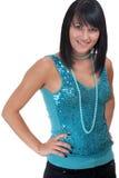 Portrait einer jungen Frau in der Abendkleidung Lizenzfreie Stockfotos