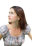 Portrait einer jungen schönen Brunettefrau Lizenzfreie Stockfotos