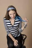 Portrait einer jungen schönen Frau Stockfotos
