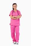 Portrait einer lächelnden Krankenschwester Stockfotografie
