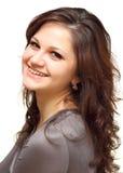 Portrait einer lächelnden Mädchennahaufnahme lizenzfreie stockfotografie
