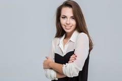 Portrait einer lächelnden jungen Geschäftsfrau Stockbilder