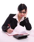 Portrait einer müden Geschäftsfrau Lizenzfreies Stockfoto