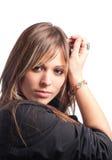 Portrait einer recht jungen Frau lizenzfreies stockbild
