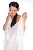 Portrait einer schönen asiatischen Frau Lizenzfreie Stockfotos