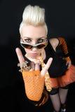 Portrait einer schönen Blondine Lizenzfreies Stockfoto