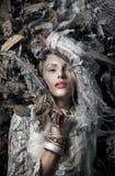 Portrait einer schönen Blondine Stockfotografie