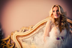 Portrait einer schönen Braut Lizenzfreies Stockfoto