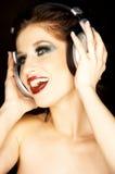 Portrait einer schönen Brunettefrau Lizenzfreie Stockfotos