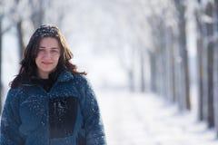 Portrait einer schönen Frau im Freien Lizenzfreies Stockbild