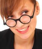 Portrait einer schönen freundlichen jungen Frau Stockfotografie