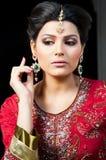Portrait einer schönen indischen Braut Lizenzfreies Stockfoto