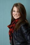 Portrait einer schönen jungen Frau Lizenzfreies Stockfoto