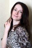 Portrait einer schönen jungen Frau Stockbild