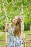 Portrait einer schönen jungen Frau Lizenzfreies Stockbild