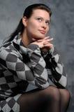 Portrait einer schönen jungen reizvollen Frau Lizenzfreie Stockfotos