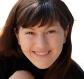Portrait einer schönen lächelnden Frau Lizenzfreies Stockbild