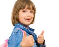 Portrait einer schönen und überzeugten Mädchenvertretung Stockfotografie