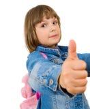 Portrait einer schönen und überzeugten Mädchenvertretung Stockfotos
