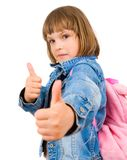 Portrait einer schönen und überzeugten Mädchenvertretung Lizenzfreie Stockbilder