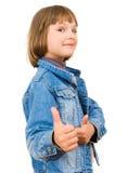 Portrait einer schönen und überzeugten Mädchenvertretung Stockbilder