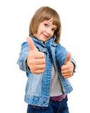 Portrait einer schönen und überzeugten Mädchenvertretung Lizenzfreie Stockfotos