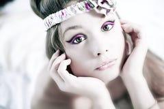 Portrait einer vollkommenen Brunetteschönheit Lizenzfreies Stockfoto