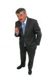 Portrait eines älteren Geschäftsmannes Stockfotos