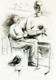 Portrait eines älteren Mannes stock abbildung