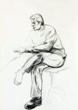 Portrait eines älteren Mannes vektor abbildung