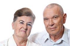 Portrait eines älteren Paares stockfotografie