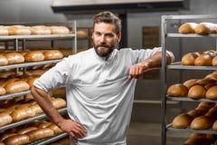Portrait eines Bäckers Lizenzfreies Stockbild