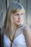 Portrait eines blonden Baumusters Lizenzfreie Stockfotografie