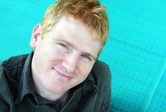 Portrait eines blonden Mannes Stockbild