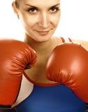 Portrait eines Boxermädchens Lizenzfreies Stockbild