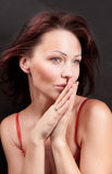 Portrait eines Brunette Lizenzfreies Stockfoto