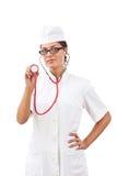 Portrait eines Doktors der jungen Frau Stockbild