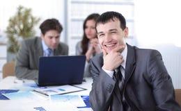 Portrait eines erfolgreichen Geschäftsmannes Stockbild