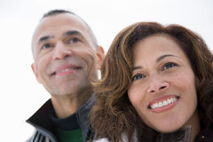 Portrait eines fälligen Paares Stockfotos