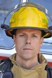 Portrait eines Feuerwehrmannes Stockfotos