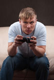 Portrait eines gamer Stockfotos